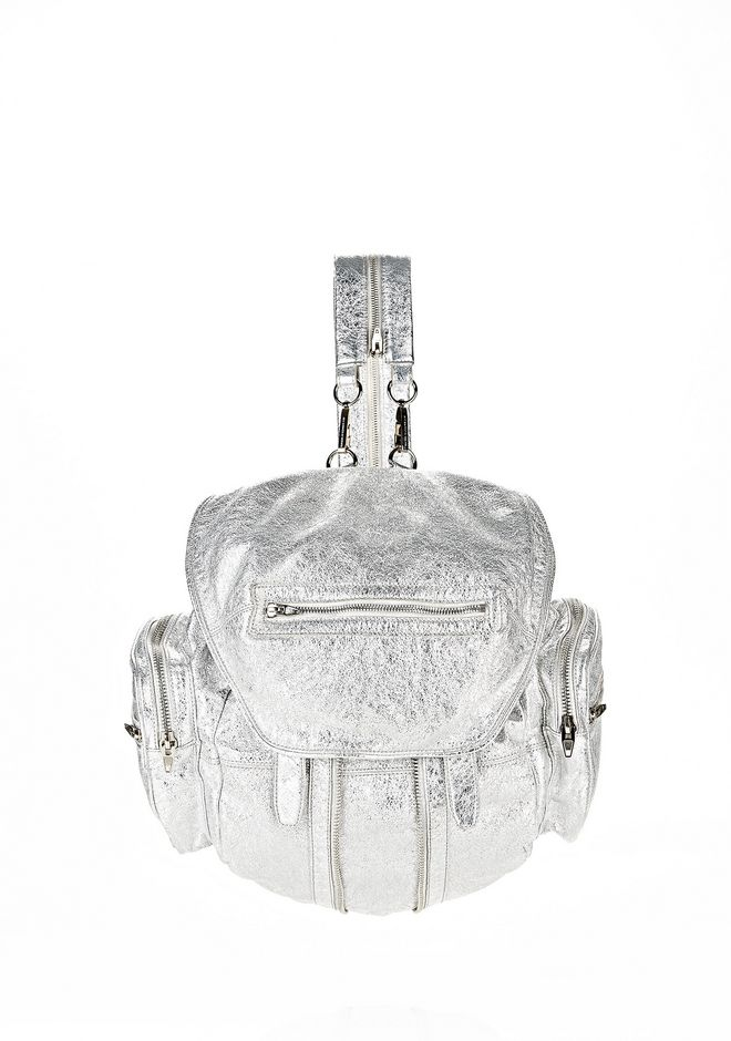 ALEXANDER WANG MARTI IN RHODIUM WITH NICKEL BACKPACK Adult 12_n_f