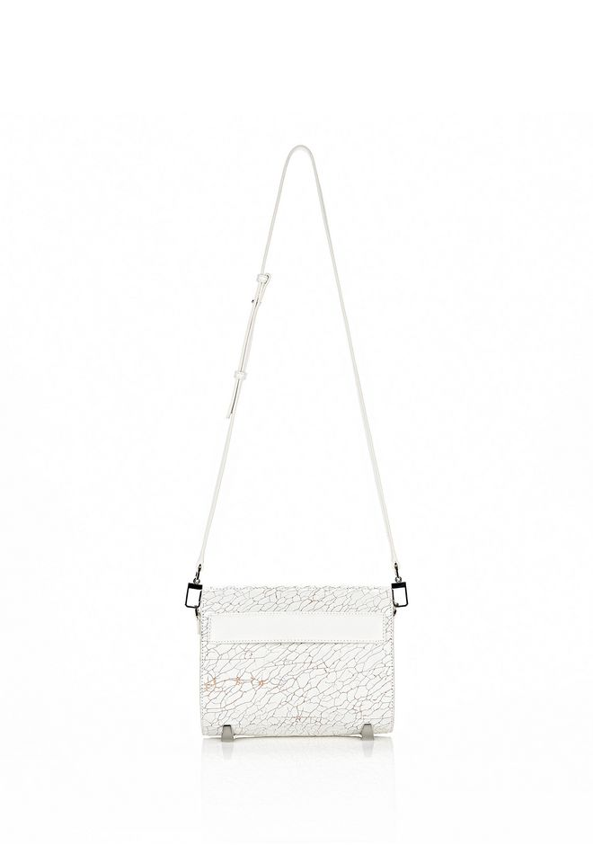 ALEXANDER WANG CHASTITY MINI IN HEAVY CRACKED PEROXIDE WITH RHODIUM Shoulder bag Adult 12_n_f