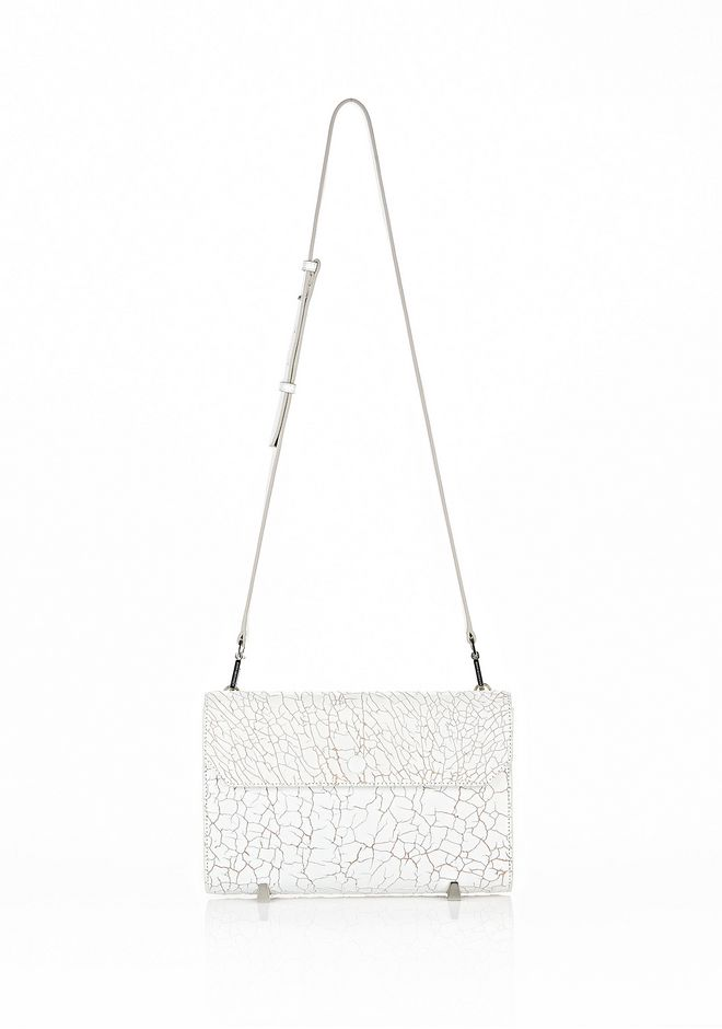 ALEXANDER WANG CHASTITY CLUTCH IN HEAVY CRACKED PEROXIDE WITH RHODIUM  CLUTCH Adult 12_n_f