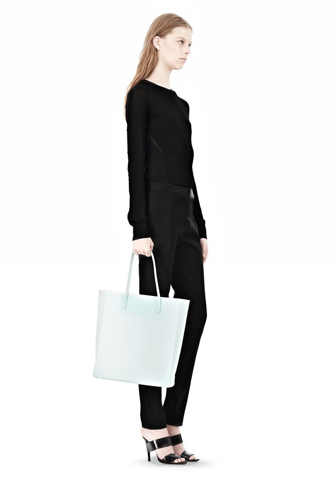 ALEXANDER WANG PRISMA MOLDED TOTE IN PEPPERMINT TOTE/DEL Adult 12_n_r