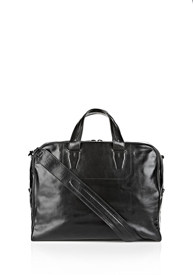 ALEXANDER WANG BRIEFCASE IN WAXY BLACK WITH MATTE BLACK Travel Adult 12_n_f