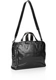 ALEXANDER WANG BRIEFCASE IN WAXY BLACK WITH MATTE BLACK Travel Adult 8_n_a