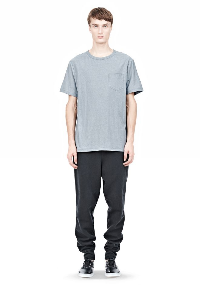 T by ALEXANDER WANG SLUB COTTON JERSEY TEE WITH CHEST POCKET TEE Adult 12_n_f