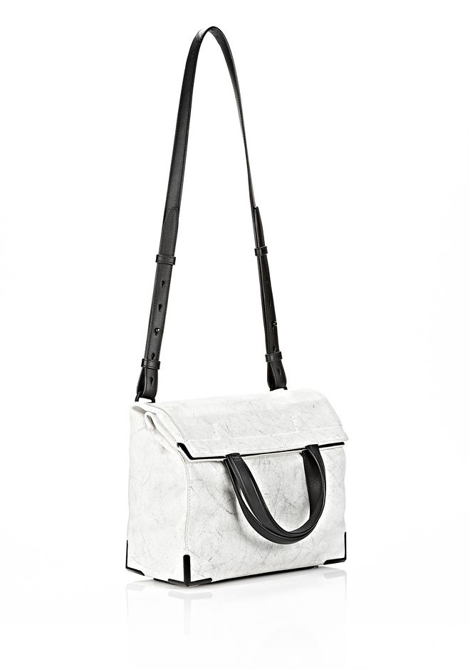 ALEXANDER WANG EXCLUSIVE PRISMA LUNCH BAG IN CHALK WITH MATTE BLACK Shoulder bag Adult 12_n_d