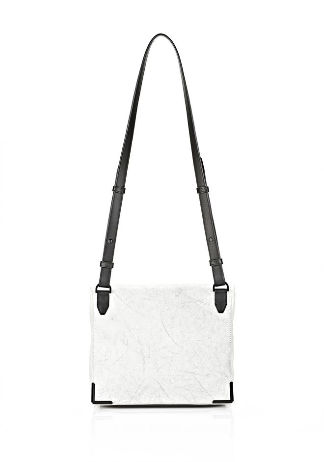 ALEXANDER WANG EXCLUSIVE PRISMA LUNCH BAG IN CHALK WITH MATTE BLACK Shoulder bag Adult 12_n_r