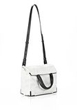 ALEXANDER WANG EXCLUSIVE PRISMA LUNCH BAG IN CHALK WITH MATTE BLACK Shoulder bag Adult 8_n_d