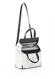 ALEXANDER WANG EXCLUSIVE PRISMA LUNCH BAG IN CHALK WITH MATTE BLACK Shoulder bag Adult 8_n_e