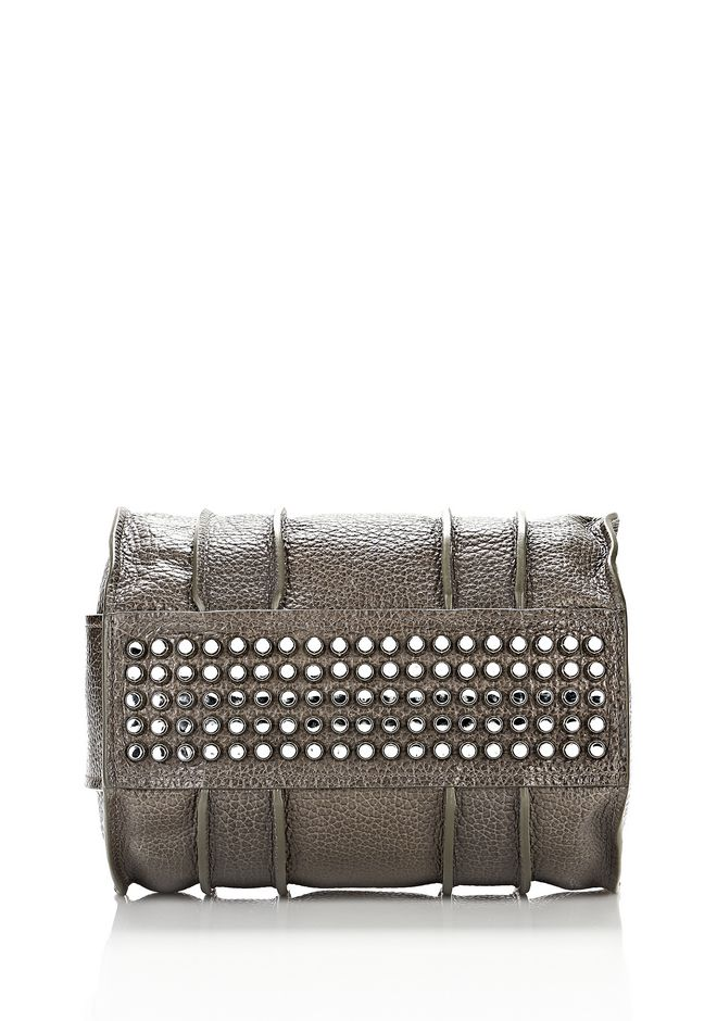 ALEXANDER WANG INSIDE-OUT ROCCO IN GUNPOWDER WITH RHODIUM Shoulder bag Adult 12_n_d