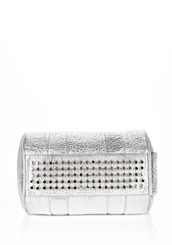 ALEXANDER WANG ROCCO IN PEBBLED RHODIUM METALLIC WITH RHODIUM Shoulder bag Adult 12_n_d