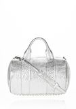 ALEXANDER WANG ROCCO IN PEBBLED RHODIUM METALLIC WITH RHODIUM Shoulder bag Adult 8_n_f