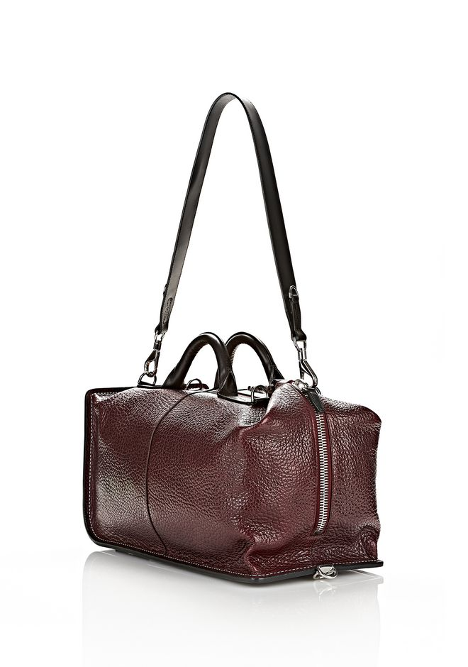 ALEXANDER WANG OPANCA DUFFLE IN CORDOVAN WITH RHODIUM Shoulder bag Adult 12_n_e