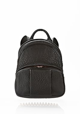 DUMBO BACKPACK IN BLACK WITH ROSE GOLD