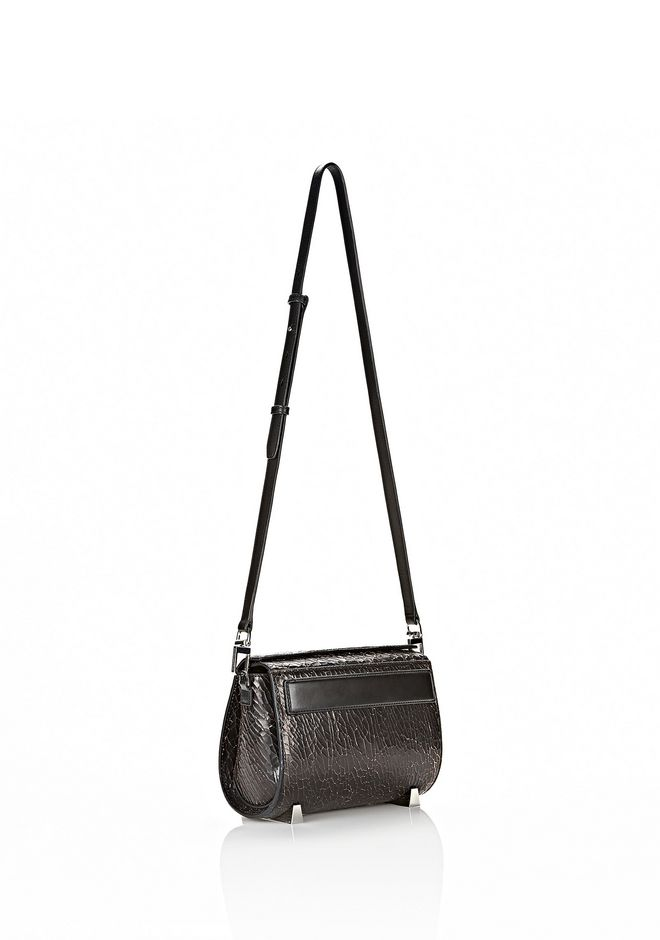 ALEXANDER WANG CHASTITY MINI IN HEAVY CRACKED BLACK WITH RHODIUM Shoulder bag Adult 12_n_d