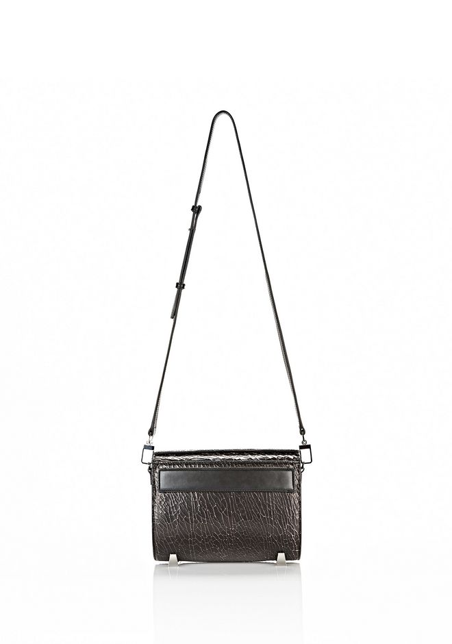ALEXANDER WANG CHASTITY MINI IN HEAVY CRACKED BLACK WITH RHODIUM Shoulder bag Adult 12_n_f