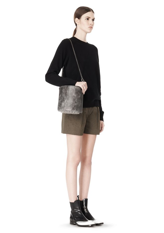 ALEXANDER WANG EXCLUSIVE DISTRESSED BUCKET BAG IN EROSION  Shoulder bag Adult 12_n_r
