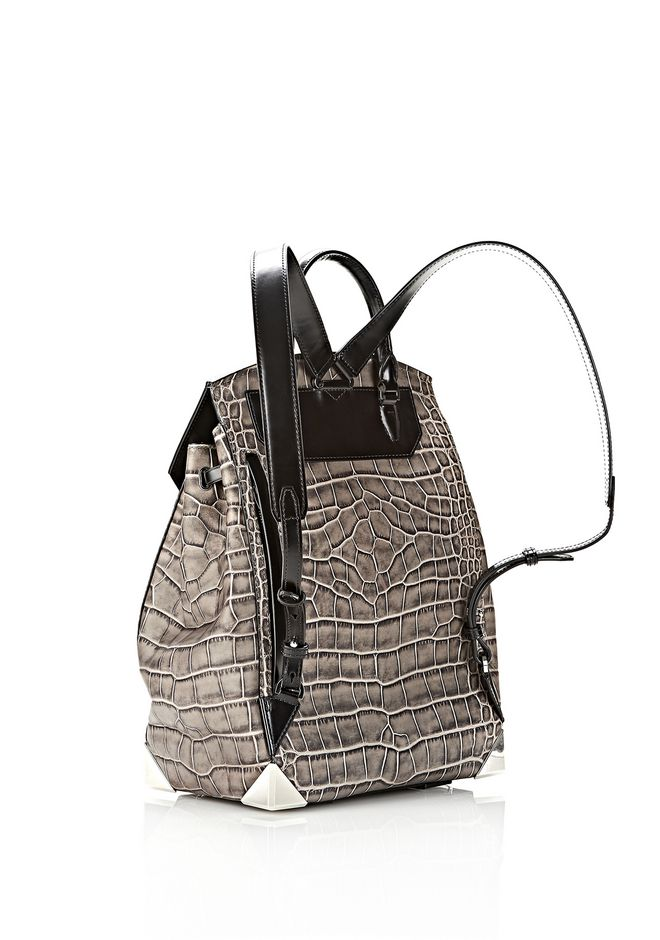 ALEXANDER WANG PRISMA SKELETAL BACKPACK IN OYSTER BACKPACK Adult 12_n_d