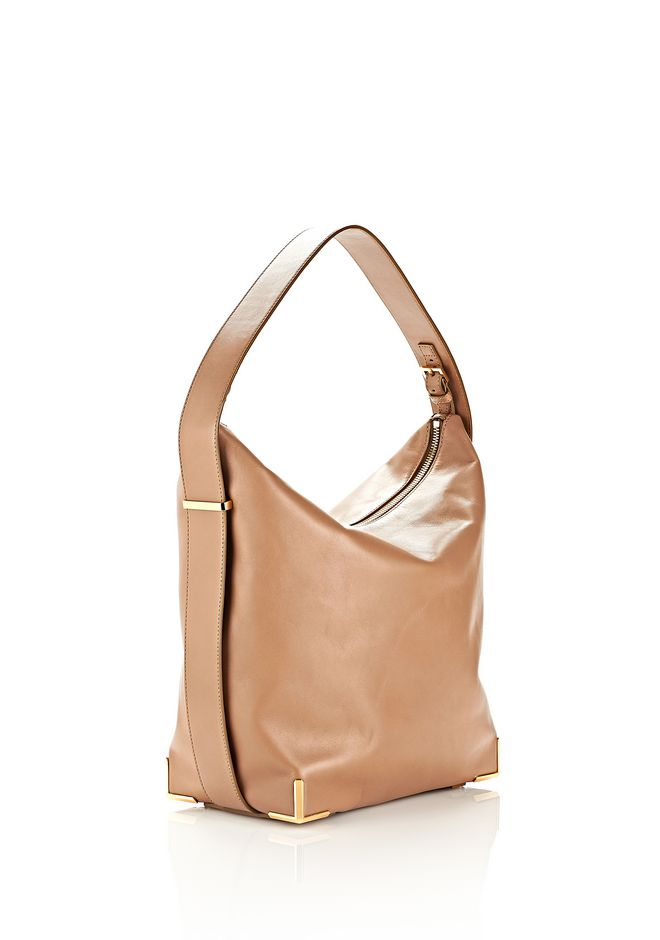 ALEXANDER WANG PRISMA SKELETAL HOBO IN LATTE WITH YELLOW GOLD TOTE/DEL Adult 12_n_e