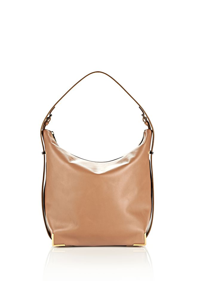 ALEXANDER WANG PRISMA SKELETAL HOBO IN LATTE WITH YELLOW GOLD TOTE/DEL Adult 12_n_f