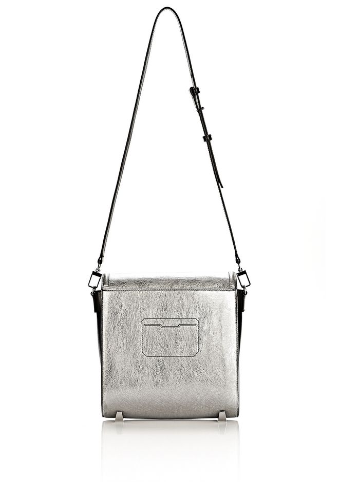 ALEXANDER WANG CHASTITY MESSENGER IN SILVER WITH RHODIUM Shoulder bag Adult 12_n_a