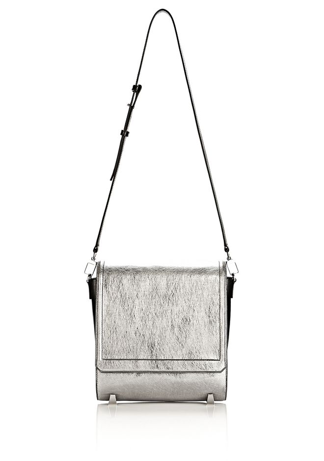 ALEXANDER WANG CHASTITY MESSENGER IN SILVER WITH RHODIUM Shoulder bag Adult 12_n_f