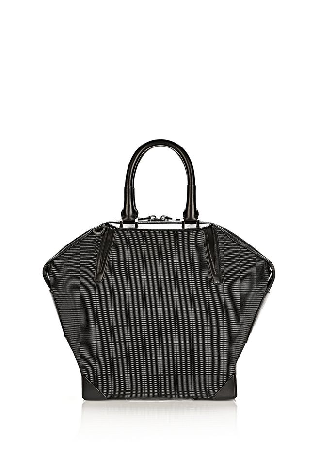 ALEXANDER WANG PRISMA EMILE TOTE IN BLACK AND WHITE NEOPRENE TOTE Adult 12_n_a