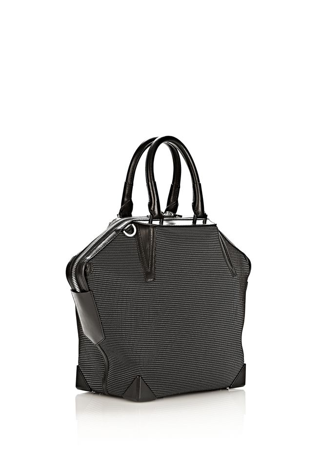 ALEXANDER WANG PRISMA EMILE TOTE IN BLACK AND WHITE NEOPRENE TOTE Adult 12_n_e
