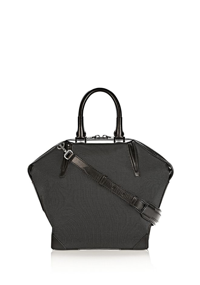 ALEXANDER WANG PRISMA EMILE TOTE IN BLACK AND WHITE NEOPRENE TOTE Adult 12_n_f