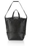 ALEXANDER WANG EXPLORER TOTE IN SHINY BLACK NYLON WITH MATTE BLACK Travel Adult 8_n_f