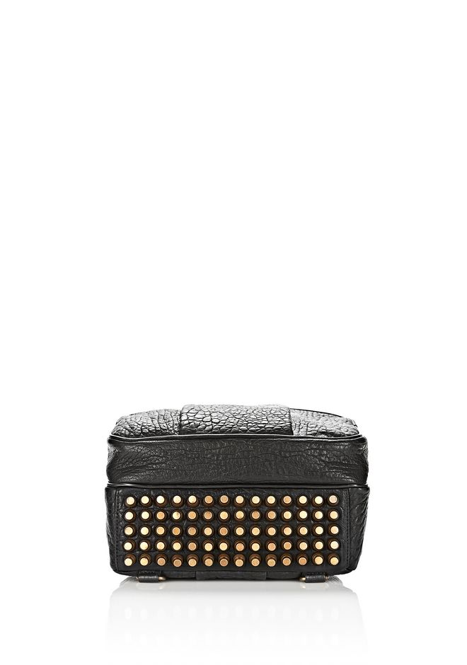 ALEXANDER WANG DUMBO BACKPACK IN PEBBLED BLACK WITH ANTIQUE BRASS BACKPACK Adult 12_n_a