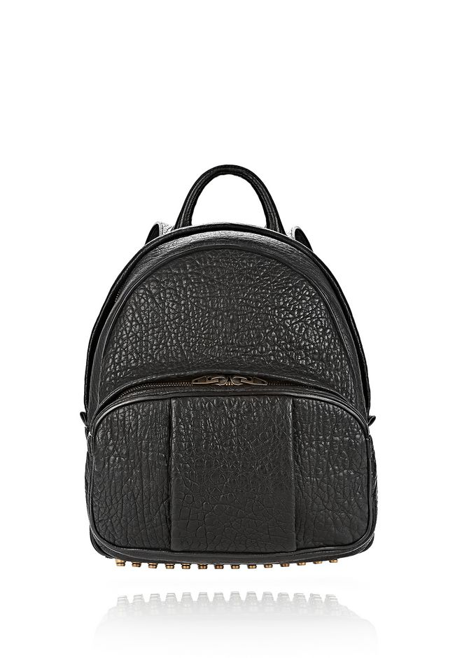 ALEXANDER WANG DUMBO BACKPACK IN PEBBLED BLACK WITH ANTIQUE BRASS BACKPACK Adult 12_n_f