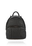 ALEXANDER WANG DUMBO BACKPACK IN PEBBLED BLACK WITH ANTIQUE BRASS BACKPACK Adult 8_n_f