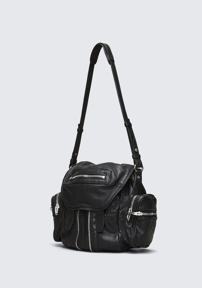 ALEXANDER WANG MINI MARTI BACKPACK IN WASHED BLACK WITH RHODIUM RUCKSACK Adult 12_n_a