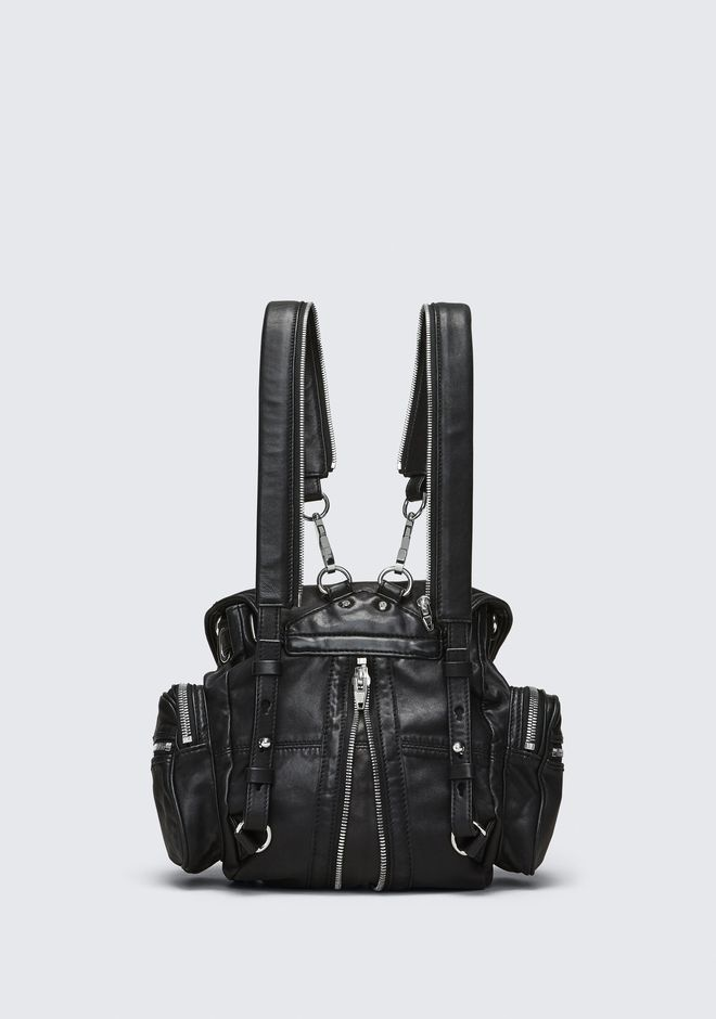 ALEXANDER WANG MINI MARTI BACKPACK IN WASHED BLACK WITH RHODIUM BACKPACK Adult 12_n_d