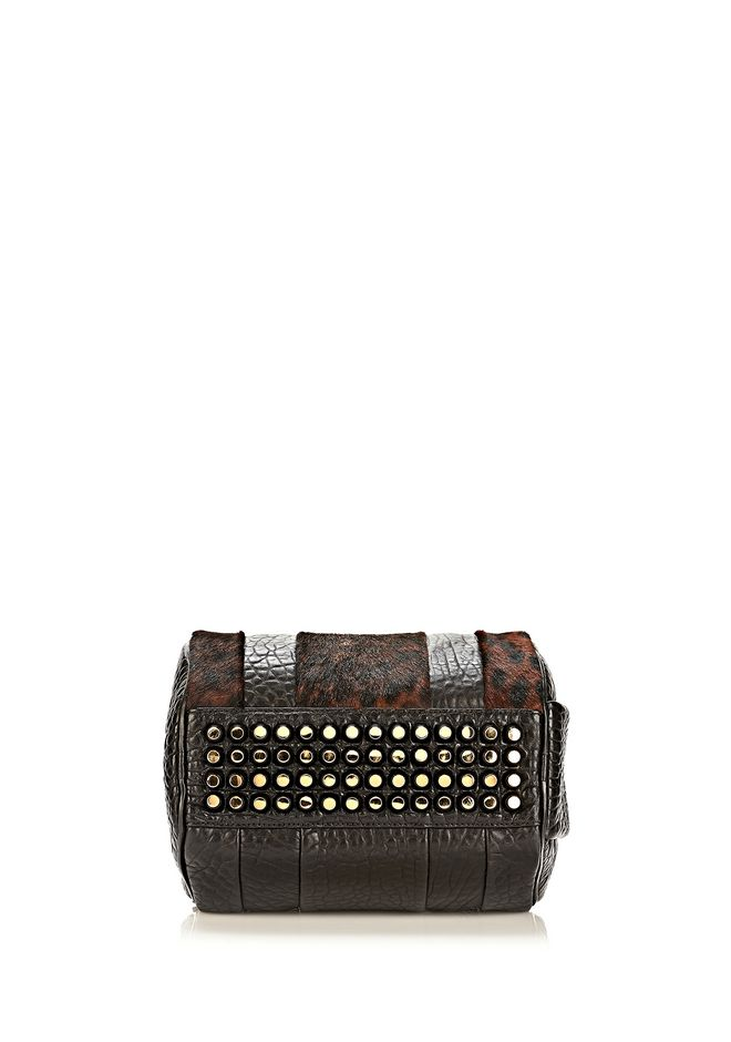 ALEXANDER WANG ROCKIE SLING IN PRINTED LEOPARD WITH YELLOW GOLD Shoulder bag Adult 12_n_d