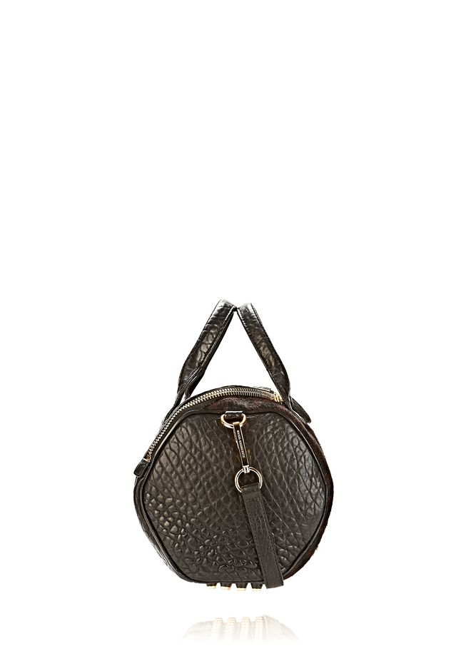 ALEXANDER WANG ROCKIE SLING IN PRINTED LEOPARD WITH YELLOW GOLD Shoulder bag Adult 12_n_e