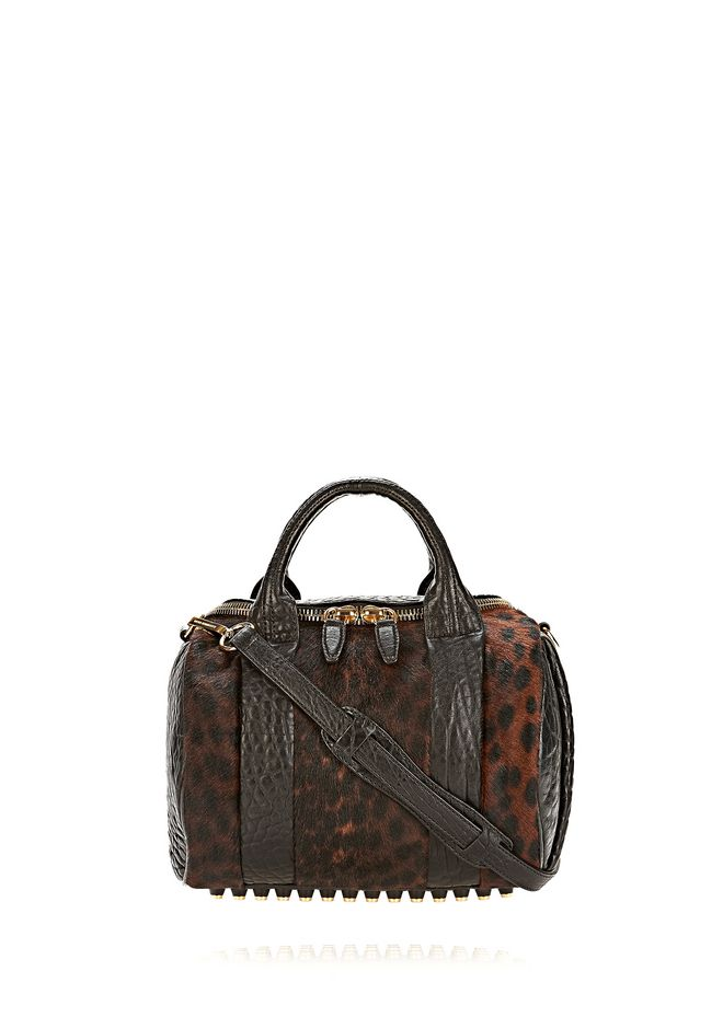 ALEXANDER WANG ROCKIE SLING IN PRINTED LEOPARD WITH YELLOW GOLD Shoulder bag Adult 12_n_f