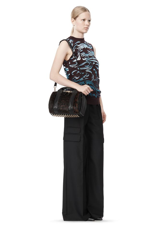 ALEXANDER WANG ROCKIE SLING IN PRINTED LEOPARD WITH YELLOW GOLD Shoulder bag Adult 12_n_r