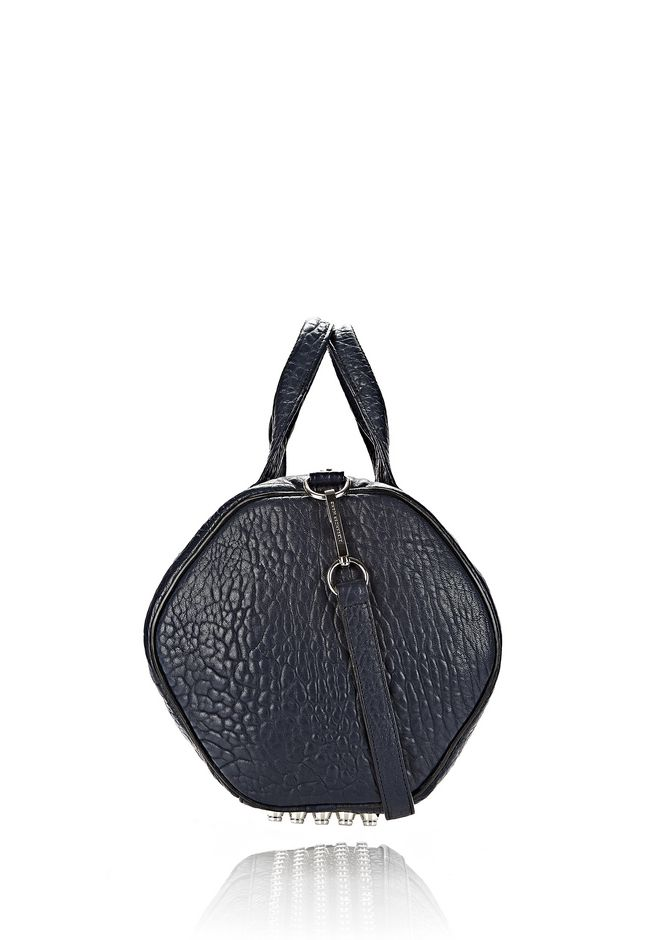 ALEXANDER WANG ROCCO IN PEBBLED NEPTUNE WITH RHODIUM Shoulder bag Adult 12_n_d