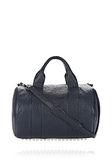 ALEXANDER WANG ROCCO IN PEBBLED NEPTUNE WITH RHODIUM Shoulder bag Adult 8_n_f