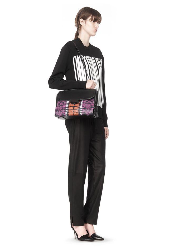 ALEXANDER WANG LARGE PRISMA SKELETAL MARION SLING IN TIE DYE WITH MATTE BLACK Shoulder bag Adult 12_n_r