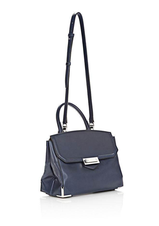 ALEXANDER WANG LARGE PRISMA SKELETAL MARION IN NEPTUNE WITH RHODIUM Shoulder bag Adult 12_n_e