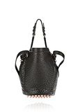 ALEXANDER WANG SMALL DIEGO IN PEBBLED BLACK WITH ROSE GOLD Shoulder bag Adult 8_n_d