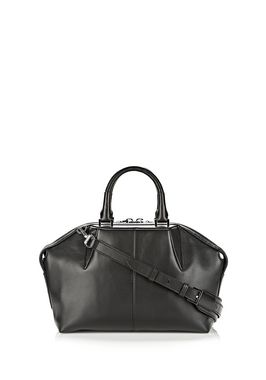 EMILE DOCTOR SATCHEL IN BLACK WITH RHODIUM