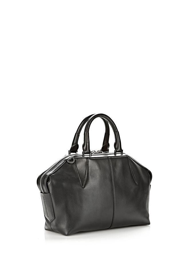 ALEXANDER WANG EMILE DOCTOR SATCHEL IN BLACK WITH RHODIUM TOTE/DEL Adult 12_n_d