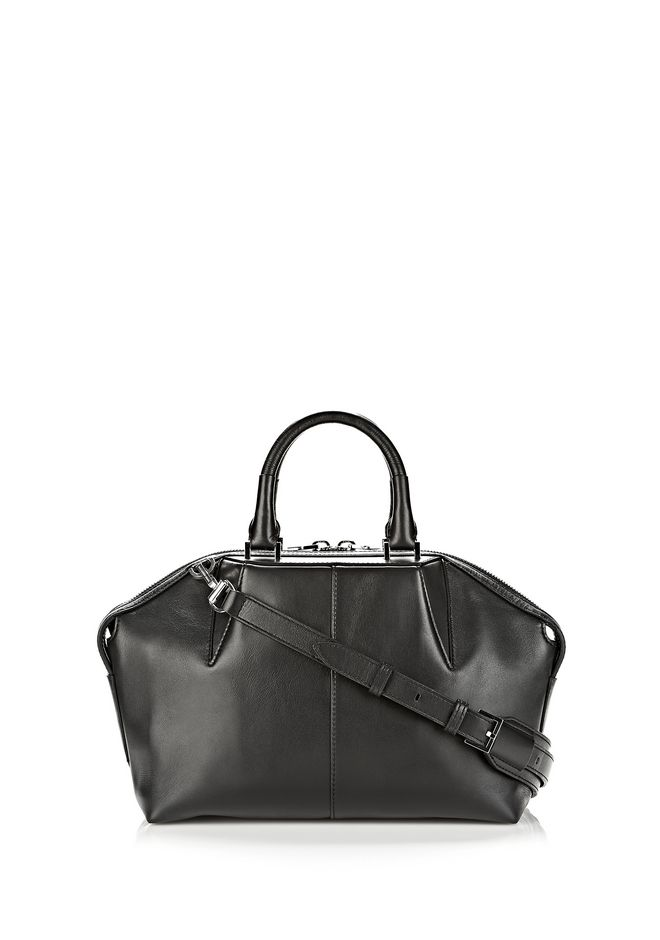 ALEXANDER WANG EMILE DOCTOR SATCHEL IN BLACK WITH RHODIUM TOTE/DEL Adult 12_n_f