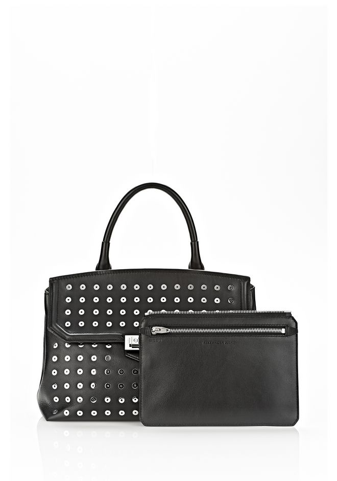 ALEXANDER WANG LARGE MARION SLING IN BLACK WITH EYELETS AND RHODIUM  Shoulder bag Adult 12_n_e