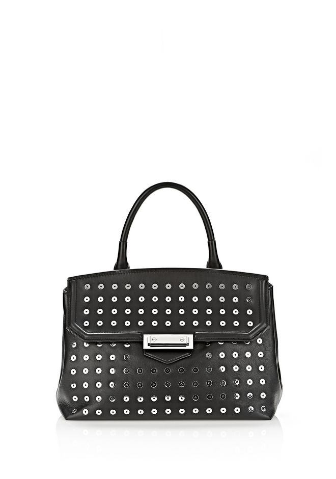ALEXANDER WANG LARGE MARION SLING IN BLACK WITH EYELETS AND RHODIUM  Shoulder bag Adult 12_n_f