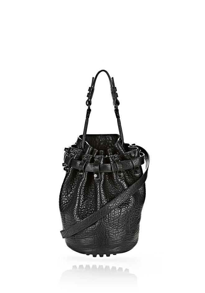 ALEXANDER WANG SMALL DIEGO IN PEBBLED BLACK WITH MATTE BLACK Shoulder bag Adult 12_n_f