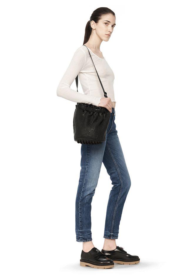 ALEXANDER WANG SMALL DIEGO IN PEBBLED BLACK WITH MATTE BLACK Shoulder bag Adult 12_n_r