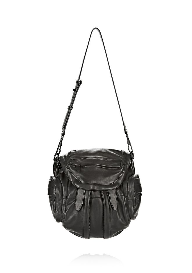ALEXANDER WANG MINI MARTI IN BLACK WITH MATTE BLACK BACKPACK Adult 12_n_d